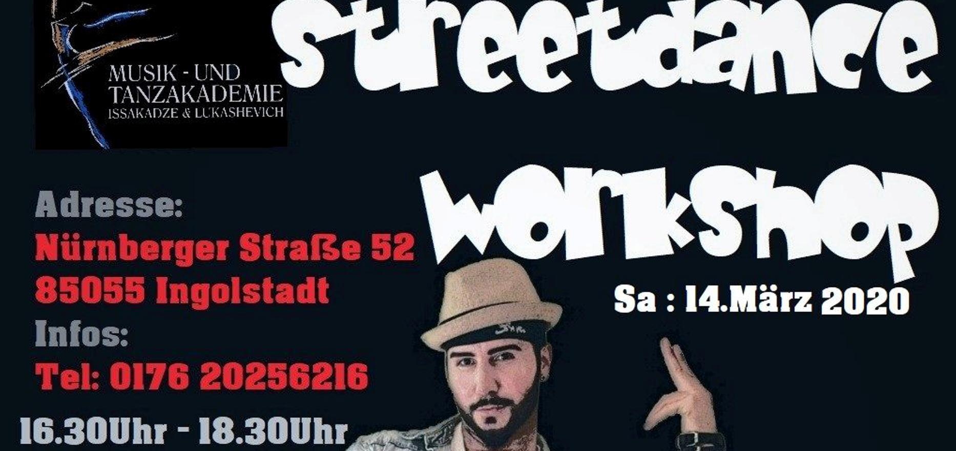 StreetDance Workshop mit Stiv Kukovec wird verschoben ….